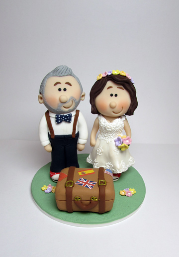 Novelty Wedding Cake Topper With The Happy Couple Off On Their Honeymoon
